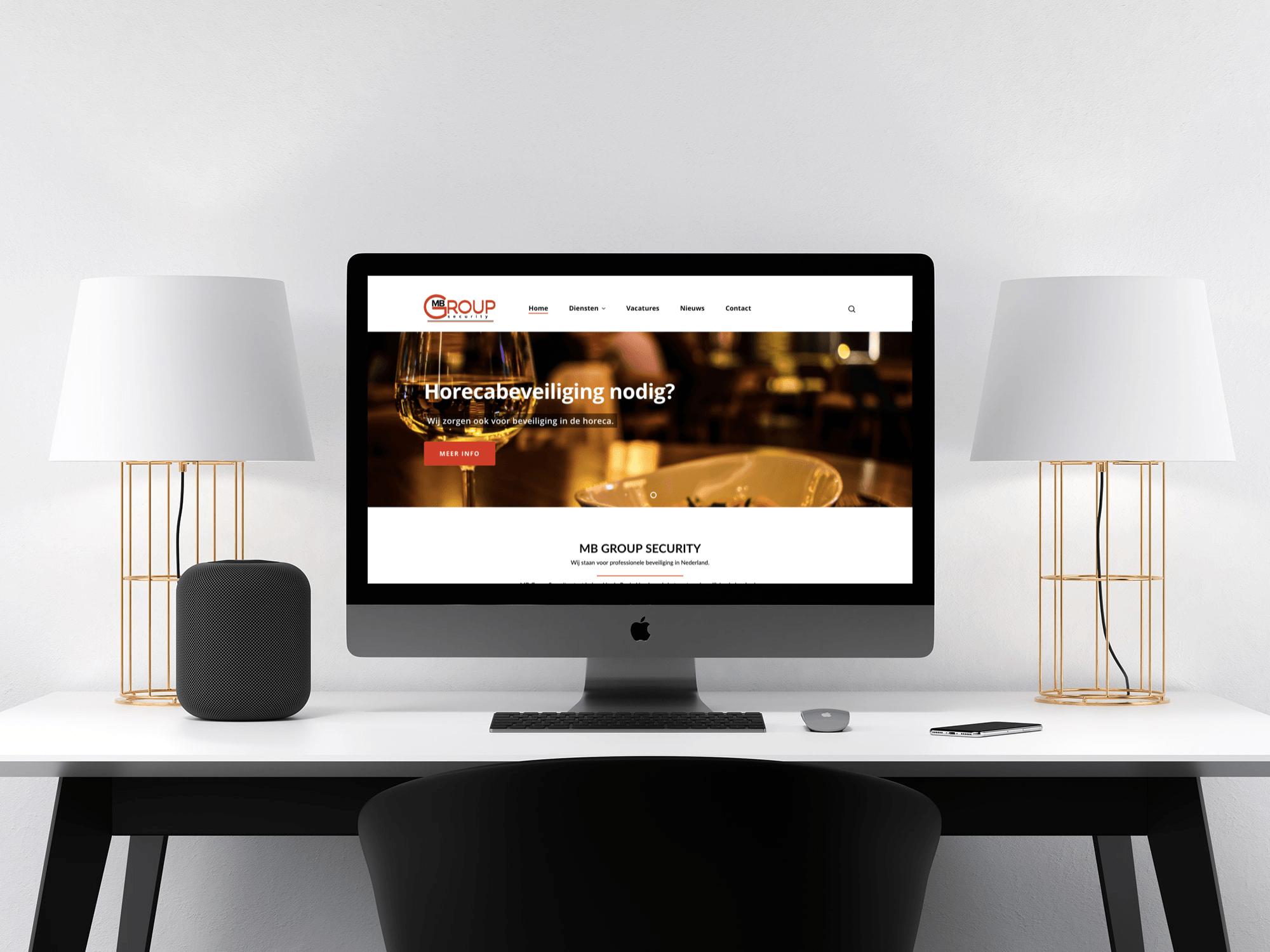 webdesign amsterdam gebouwd door lion creations voor het bedrijf mb group security